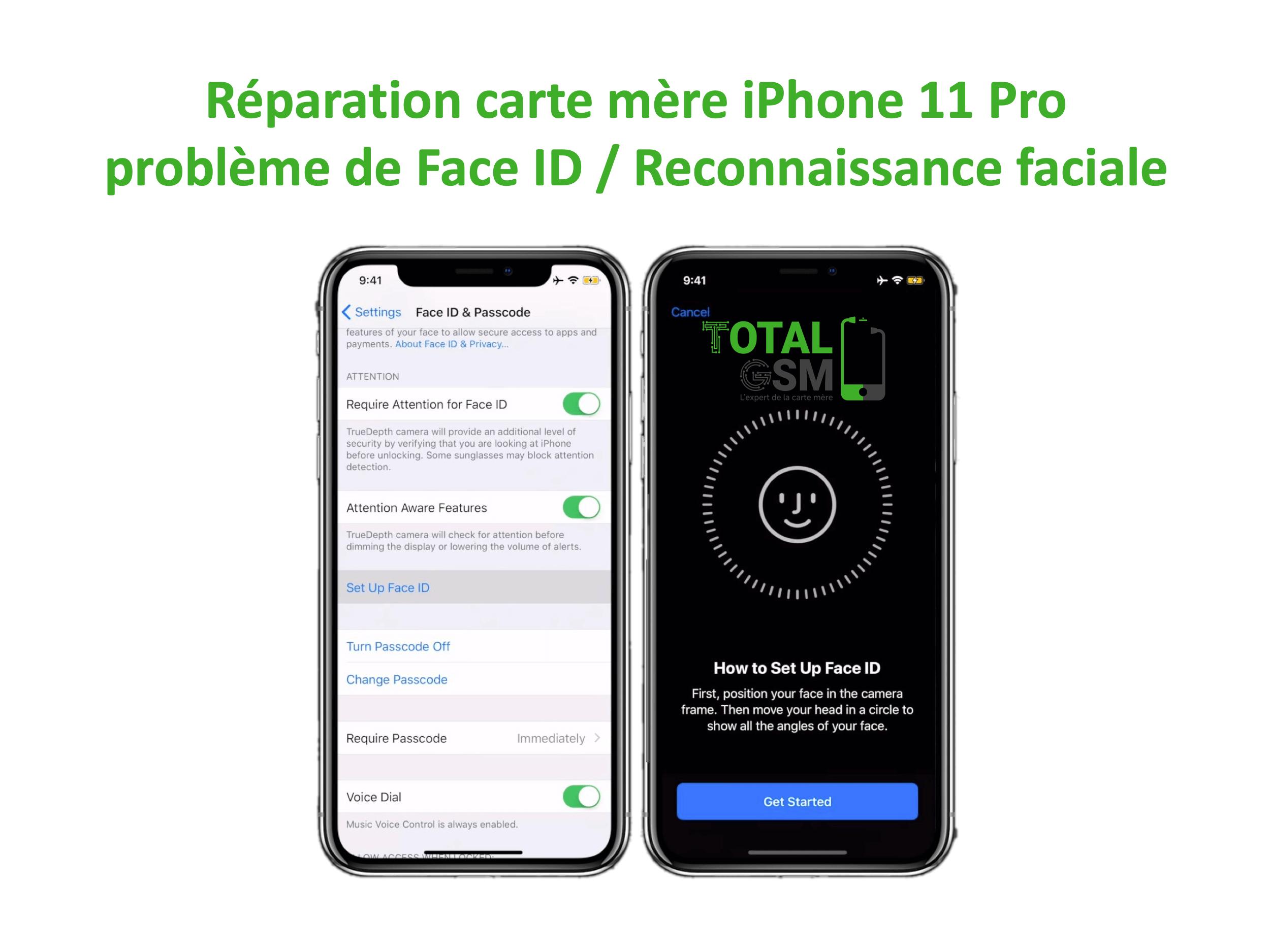 iPhone-11-pro-reparation-probleme-de-senseur-de-face-id-reconnaissance-faciale
