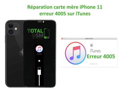 iPhone-11-reparation-probleme-erreur-4005-sur-itunes