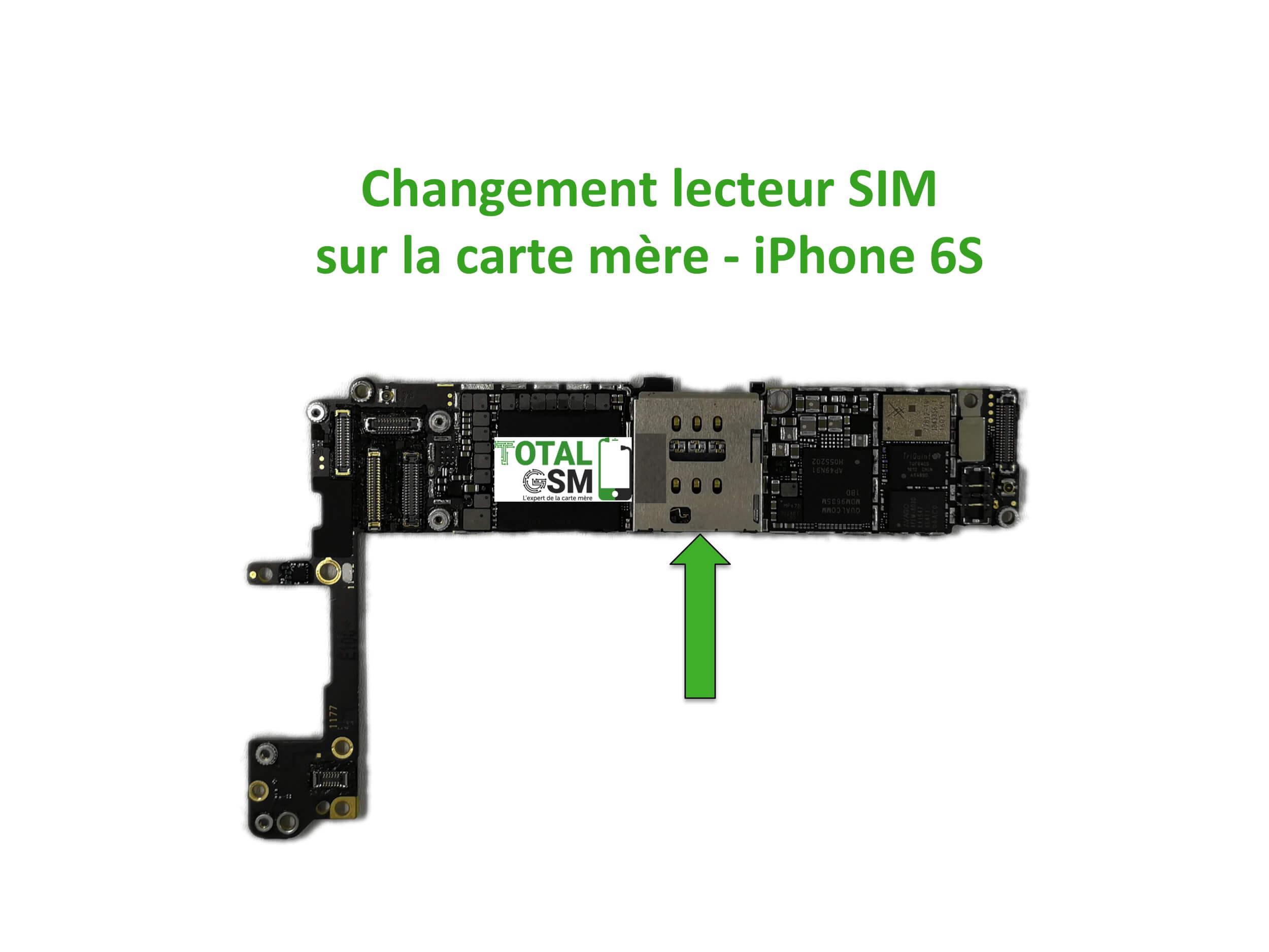carte mère iphone 6s Changement / Réparation lecteur SIM sur carte mère iPhone 6S