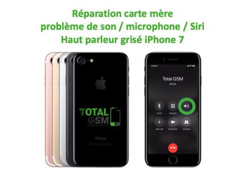 iPhone 7 haut parleur est grisé