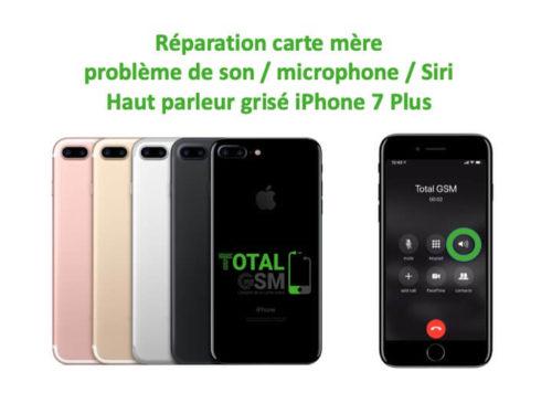 iPhone 7 Plus haut parleur est grisé