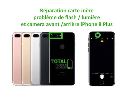 iPhone-8-Plus-reparation-probleme-de-flash-camera-avant-arriere