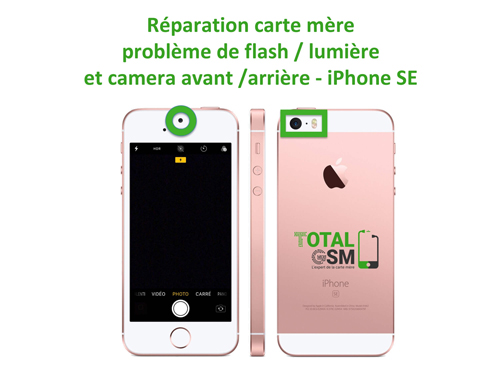iPhone-SE-reparation-probleme-de-flash-camera-avant-arriere