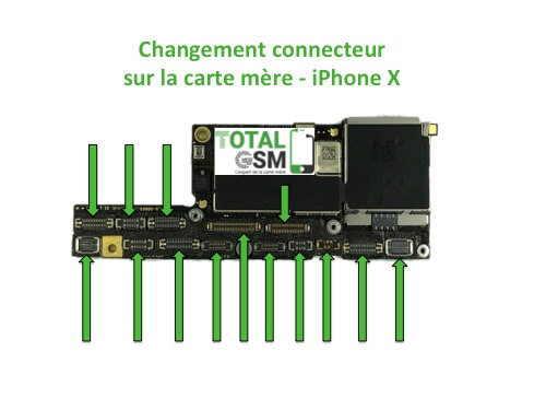 iPhone-X-changement-connecteur-carte-mere