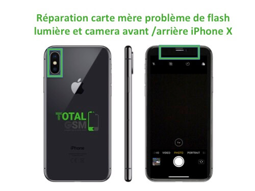 iPhone-X-reparation-probleme-de-flash-camera-avant-arriere