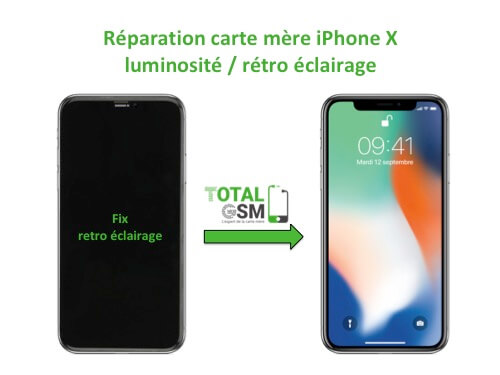 iPhone-X-reparation-probleme-de-retro-eclairage