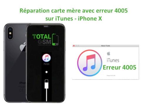 iPhone-X-reparation-probleme-erreur-4005-sur-itunes