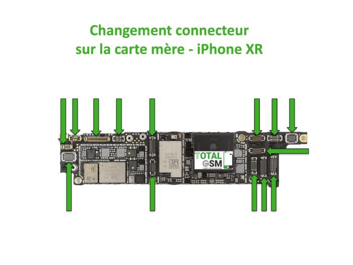 iPhone-XR-changement-connecteur-carte-mere