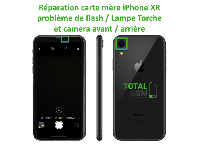 iPhone-XR-reparation-probleme-de-camera-arriere et avant