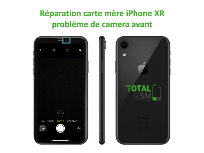 iPhone-XR-reparation-probleme-de-camera-avant