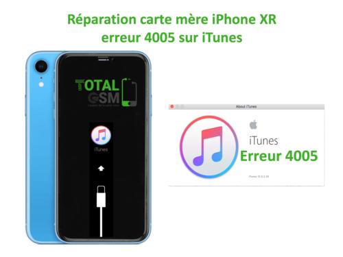 iPhone-XR-reparation-probleme-erreur-4005-sur-itunes