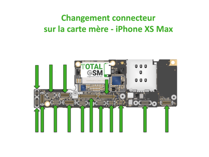 iPhone-XS-MAX-changement-connecteur-carte-mere