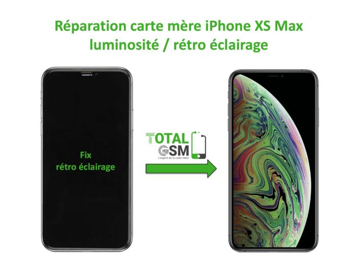 iPhone-XS-MAX-reparation-probleme-de-retro eclairage
