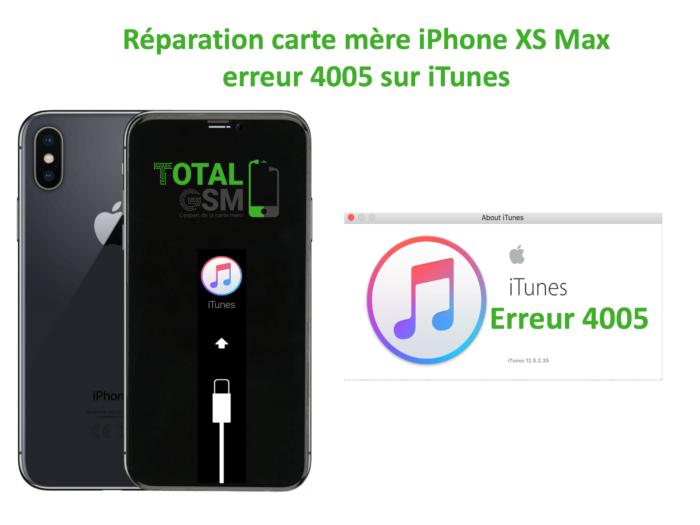 iPhone-XS-MAX-reparation-probleme-erreur-4005-sur-itunes