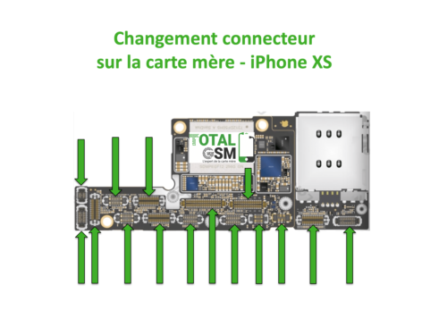 iPhone-XS-changement-connecteur-carte-mere