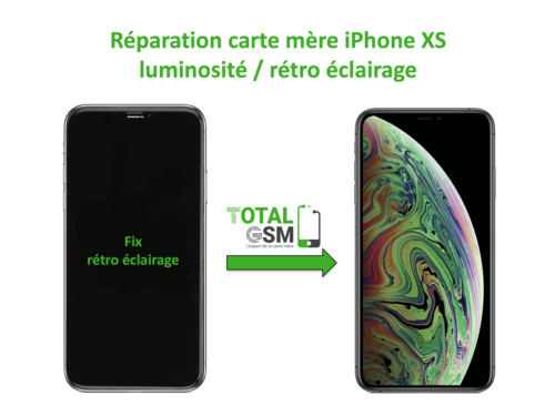 iPhone-XS-reparation-probleme-de-retro eclairage