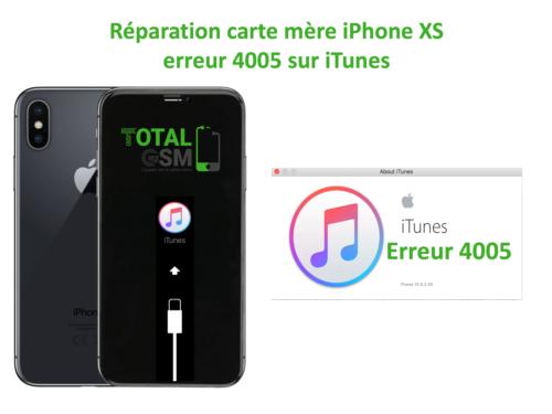iPhone-XS-reparation-probleme-erreur-4005-sur-itunes