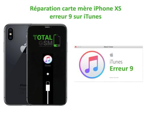 iPhone-XS-reparation-probleme-erreur-9-sur-itunes